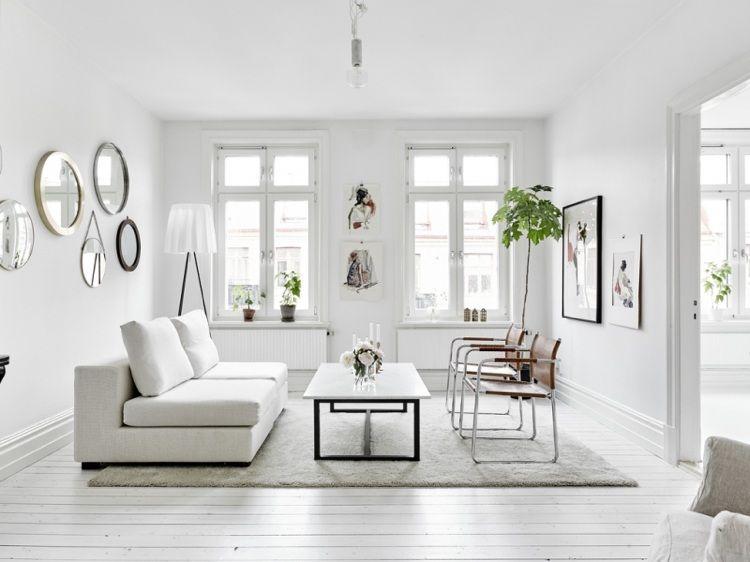 int rieur blanc et bois 40 id es inspirantes emprunter salon pinterest int rieurs. Black Bedroom Furniture Sets. Home Design Ideas