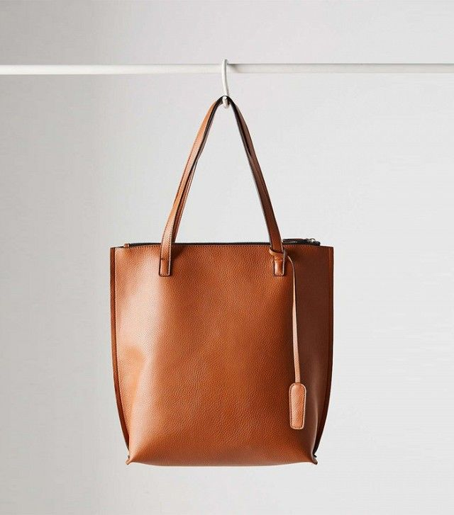 Silence + Noise Zip Pebbled Tote Bag