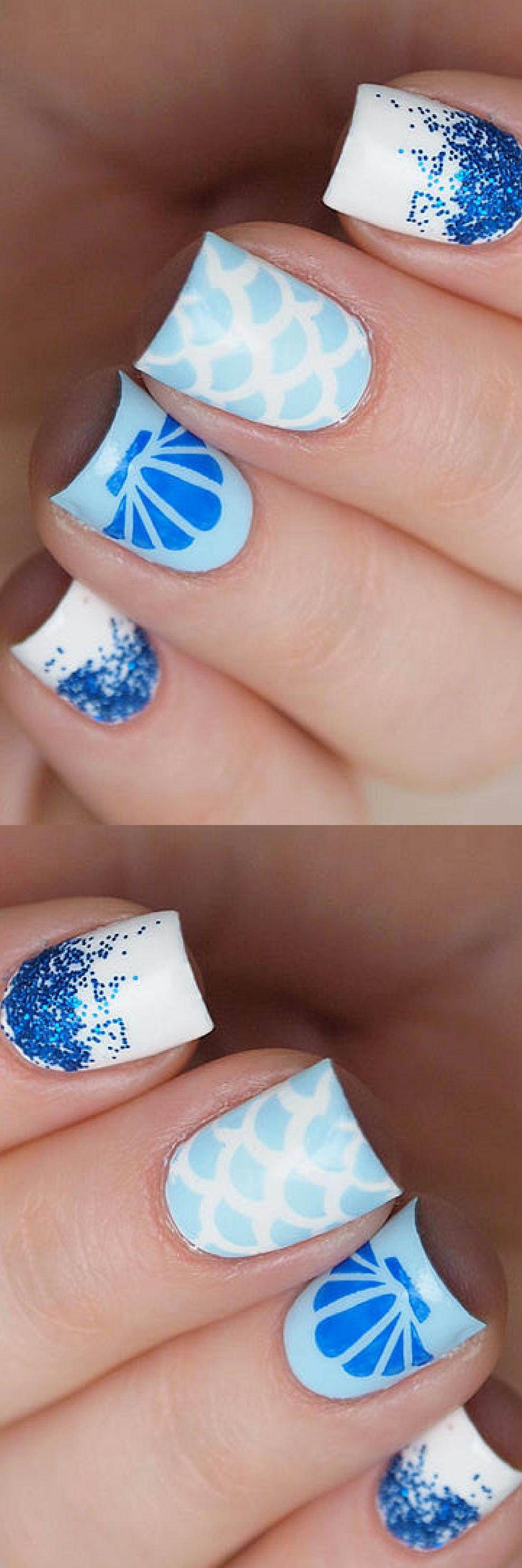 Seashell Nail Stencils Seashell Nail Vinyls Sea Nail Decorations