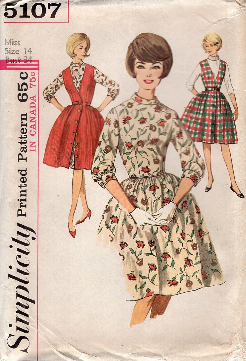Simplicity 5107 Vintage Retro 1960s 60s Sewing Pattern Free Us Etsy Womens Sewing Patterns Costume Sewing Patterns Vintage Sewing Patterns