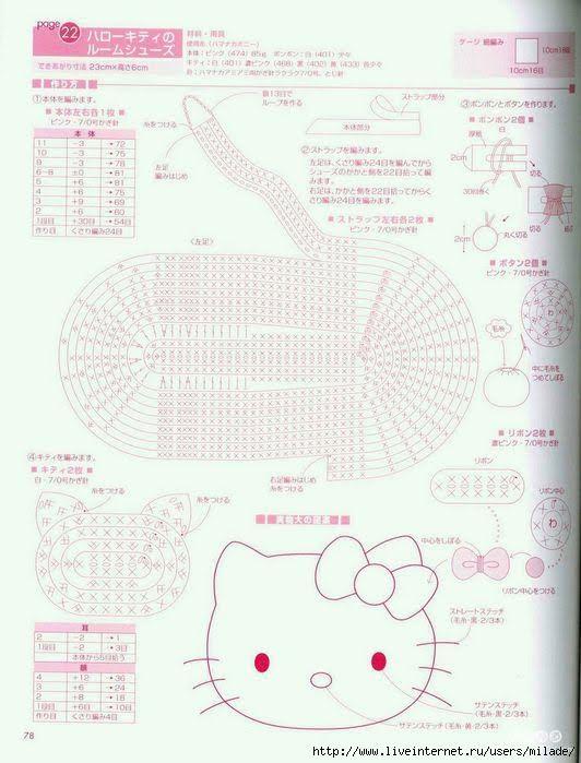 Croche pro Bebe: Sapatinho Hello Kitty em croche,lindo!!! | Purses ...