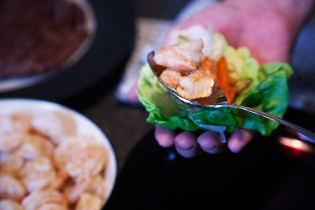 Thai Surf And Turf Lettuce Wraps Recipe Surf Turf Food Drink Food