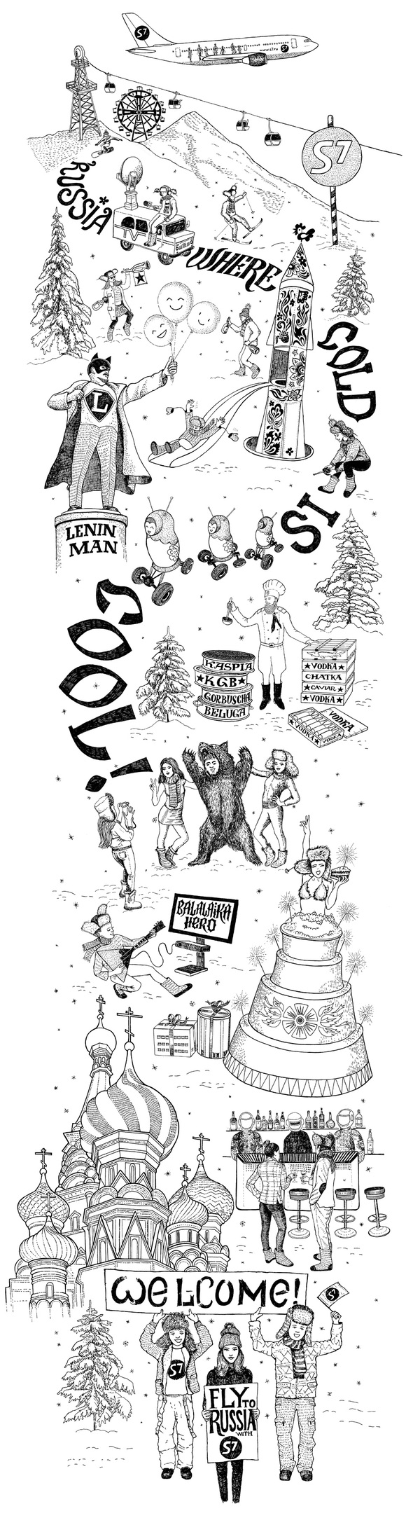 Russia. Where Cold is Cool by Fiodor SUMKIN, via Behance