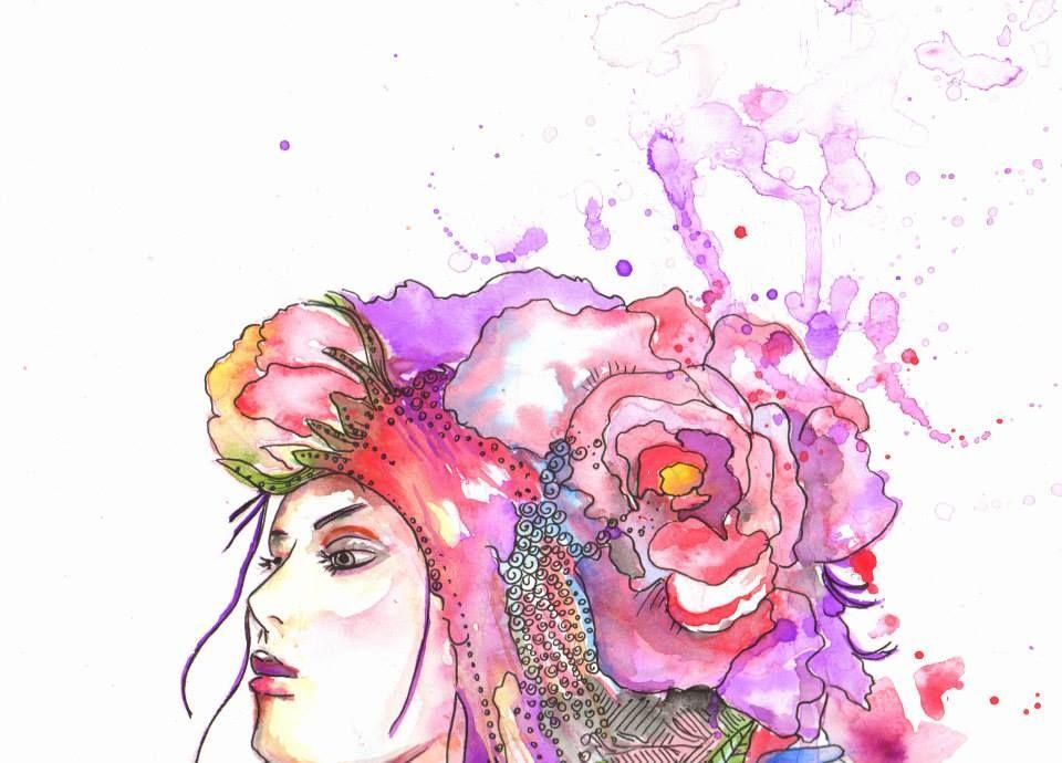 Enredadera de Flores . Metamorfosis Femenina / Ilustration By Eins Artist