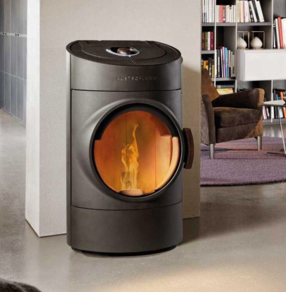 austroflamm clou pellets stove design cesare monti organic