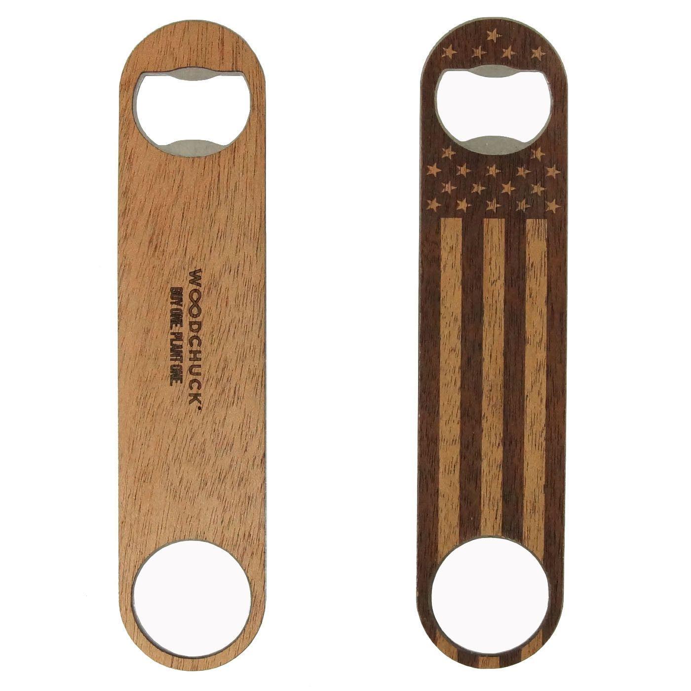 American Edition Wood Bottle Opener