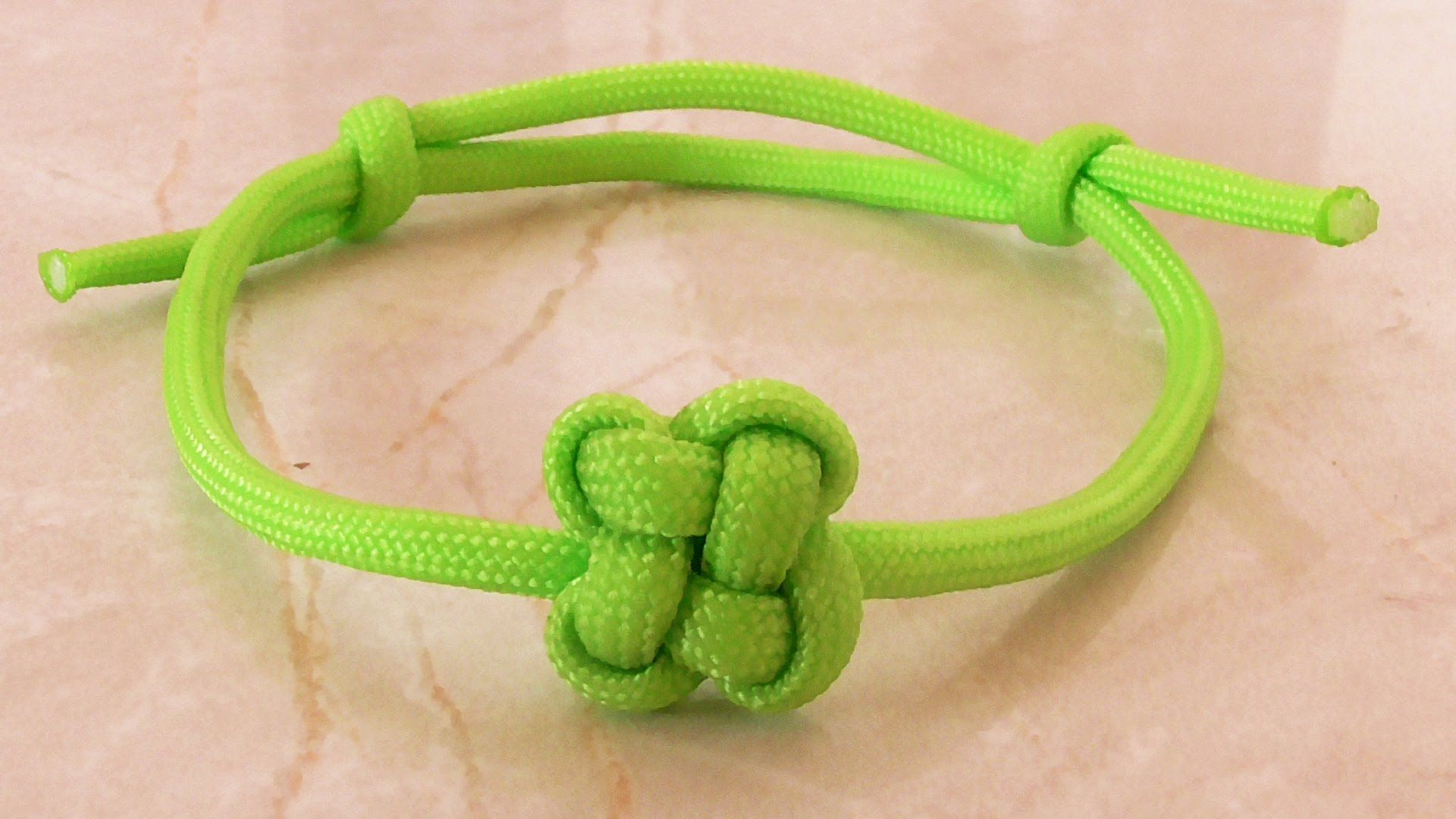 How you can tie a paracord chinese clover friendship bracelet how to tie a paracord chinese clover friendship bracelet with sliding knot baditri Image collections