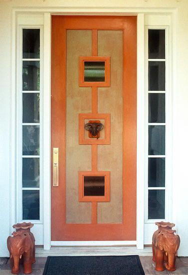 Custom Contemporary 2 Lite Wood Door Solid Entry Doors By Decora Exterior Wood Entry Doors Entry Doors Entry Door Styles