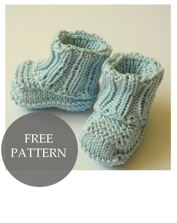 No Sew Knitted Baby Booties Pattern Pinterest Baby Booties
