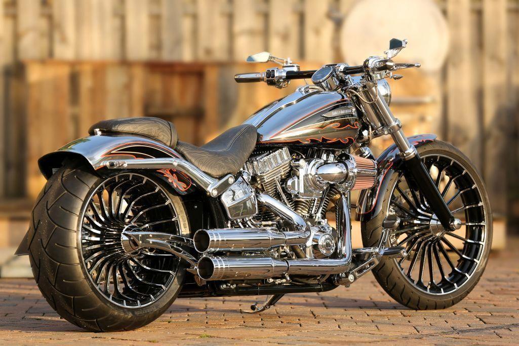 Customized Harley Davidson Softail Breakout Cvo 2014 With Thunderbike Pulleybrake Kit Many Cool Features Harleydavidsoncustom