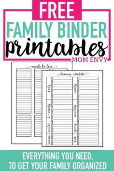 Home Organization Printables - Free Printable Home Organization Worksheets - Mom Envy