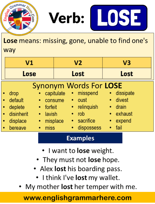 lose past simple