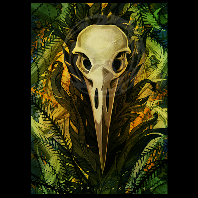 Raven postcard / Raben Postkarte by gabrieldevue on DeviantArt