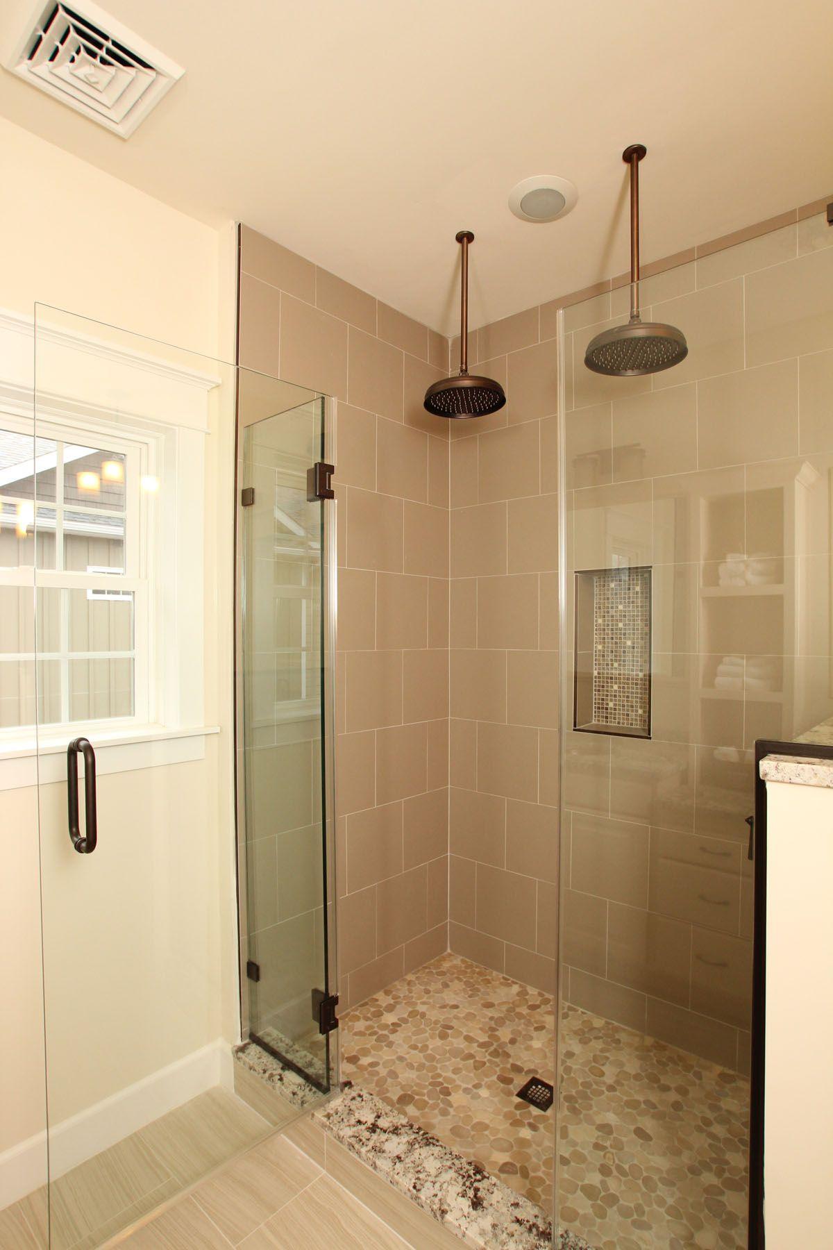 Double Rain Shower Heads In The Master Bath Shower Heads Bath Inspiration Master Bath Remodel