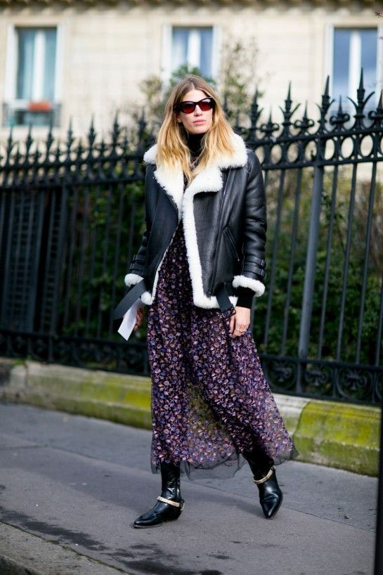 The Best Street Style From Paris Fashion Week Fall 2016 - It over to Paris where it's all about relaxed denim, animal prints and attention-seeking statement booties this season - FLARE