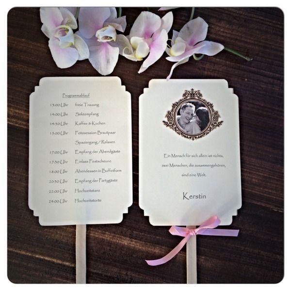 Facher Mit Ablaufplan Sitzplatz Vintage Hochzeit Von Vintage Ladchen Auf Dawanda Com Hochzeit Ablauf Facher Hochzeit Hochzeit