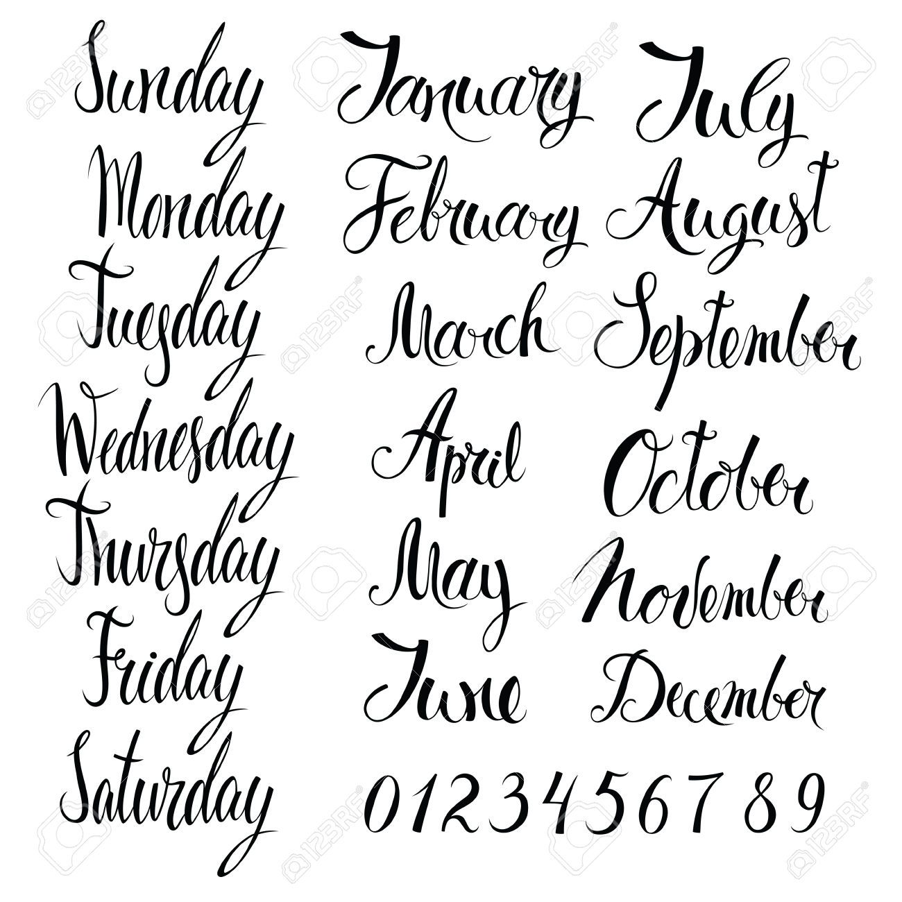 numbers calligraphy - Google Search