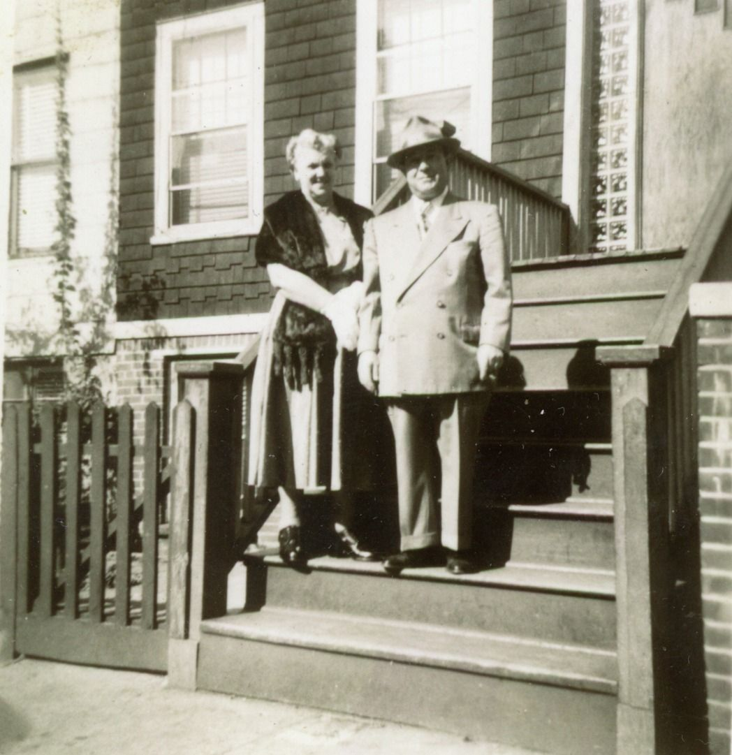 My great Aunt Jean Hay and her husband, Jim Ciano1952 Jersey City, NJ