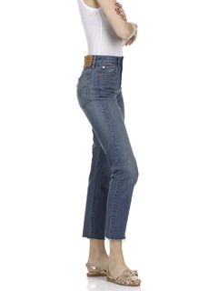 Jean cropped Wedgie Icon Fit Jean Stone by LEVIS