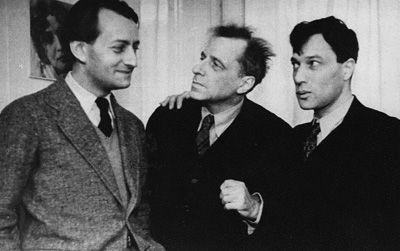 André Malraux , V.E. Meyerhold y Boris Pasternak (de izquierda a derecha)  1934