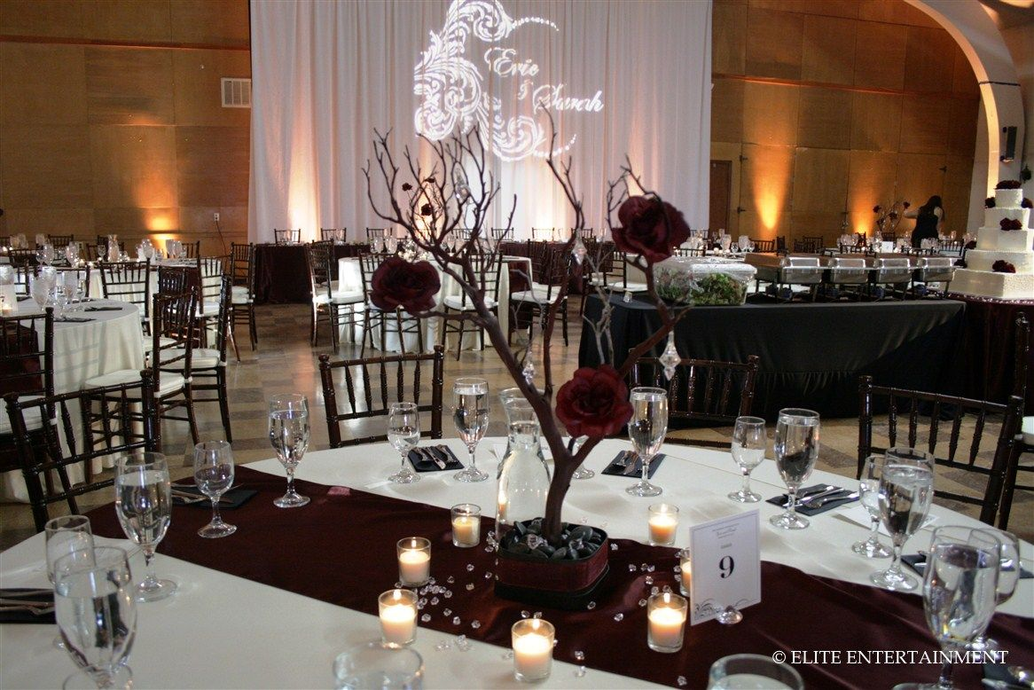 burgundy wedding table ideas Sarah and