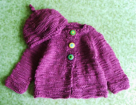 Baby GIrl Clothes - Purple Wool Sweater for Girls - Size 12 to 18 ...