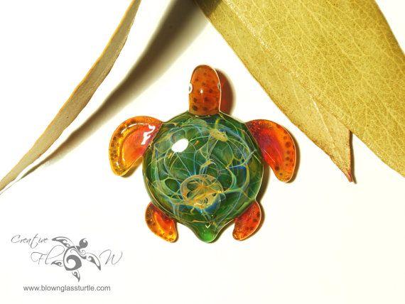 Sacred jungle turtle glass art pendant by creative flow glass sacred jungle turtle glass art pendant by creative flow glass mozeypictures Images