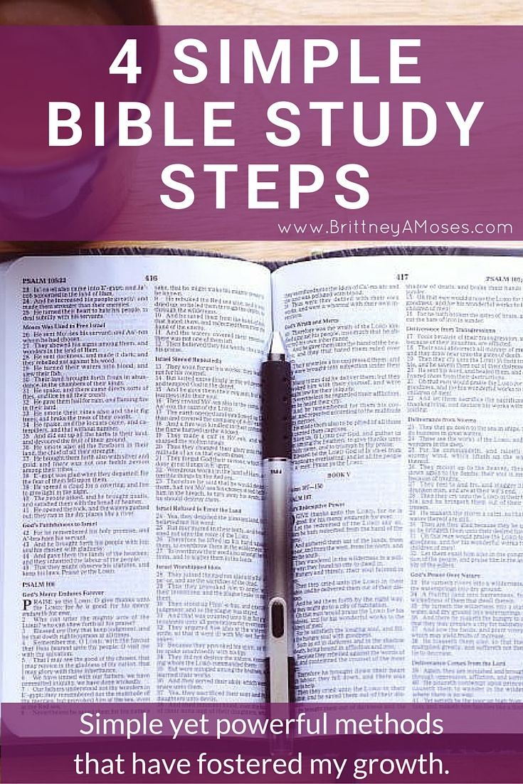 4 simple bible study steps scriptures bible and bible journal 4 simple bible study steps brittney moses malvernweather Images