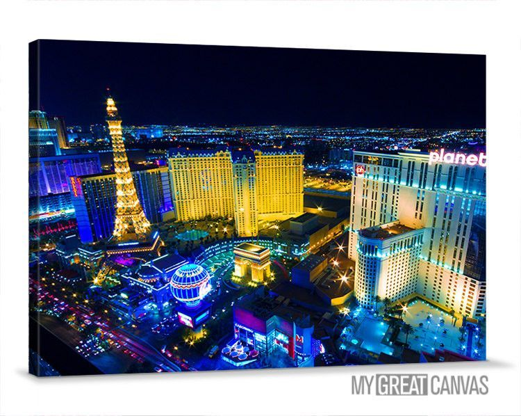 Large Wall Art Canvas Night Las Vegas City Skyline Canvas Prints Vegas Art Canvas Vegas Casinos Las Vegas Vacation Vegas Vacation Las Vegas Trip