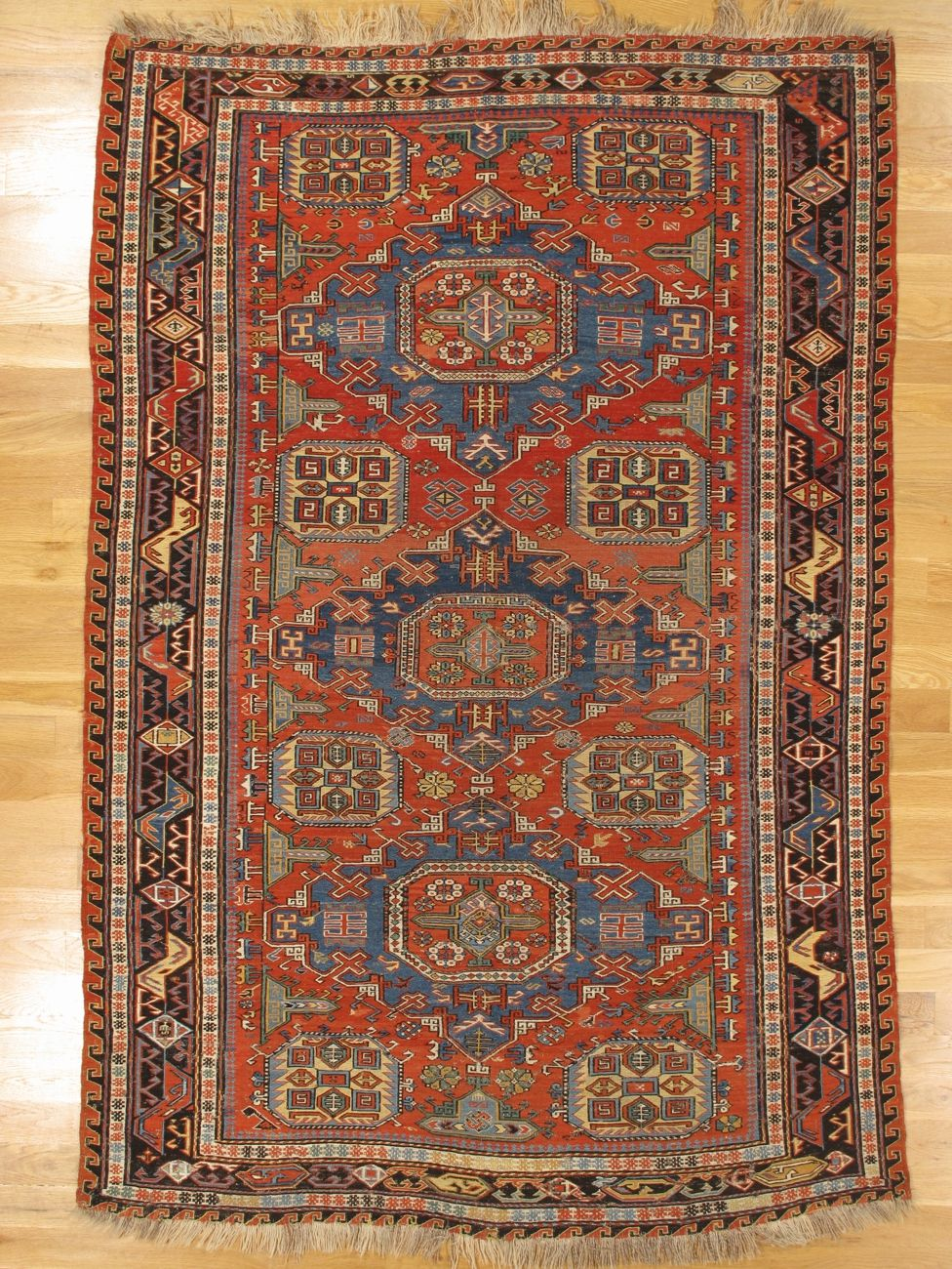 Soumak Flatwoven Rug From Eastern Caucasus West Coast Of The Caspian Sea Age Circa 1885 Size 7 6 X5 0 229x152 Cm Rugs Flat Woven Rug Persian Rug
