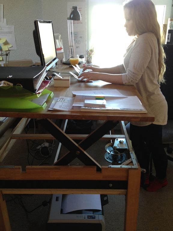 Liftable Stand Up Rising Desk Table Diy Standing Desk