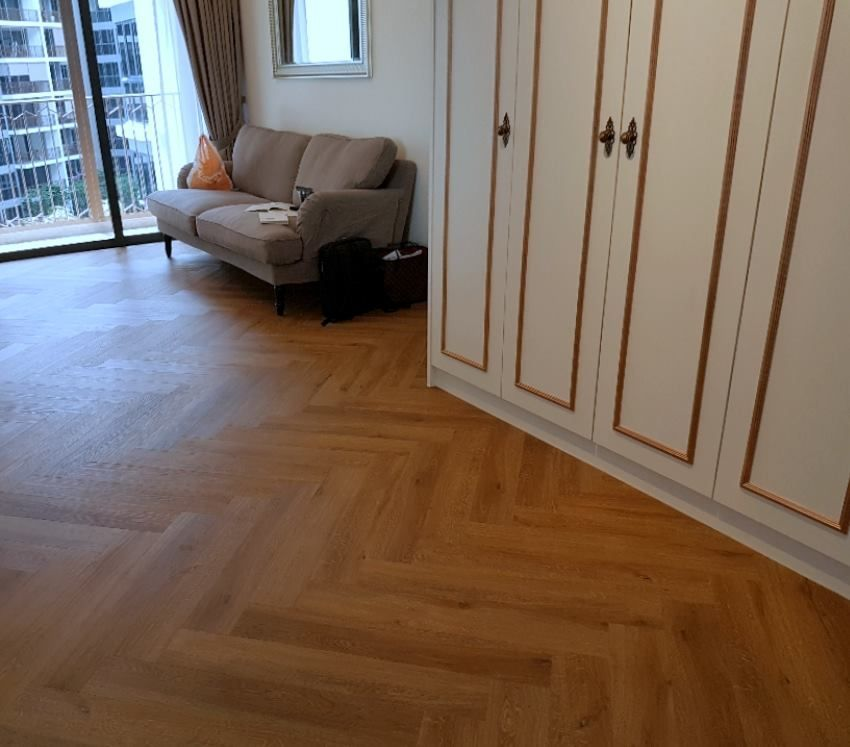 Gone are the days when only parquet flooring can create a