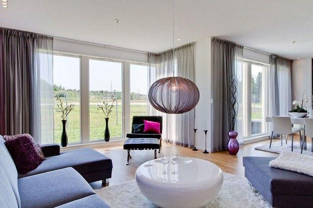 Sal n moderno tendencias originales para 2015 departamento pinterest sal n moderno sal n - Disenos de cortinas para salones ...
