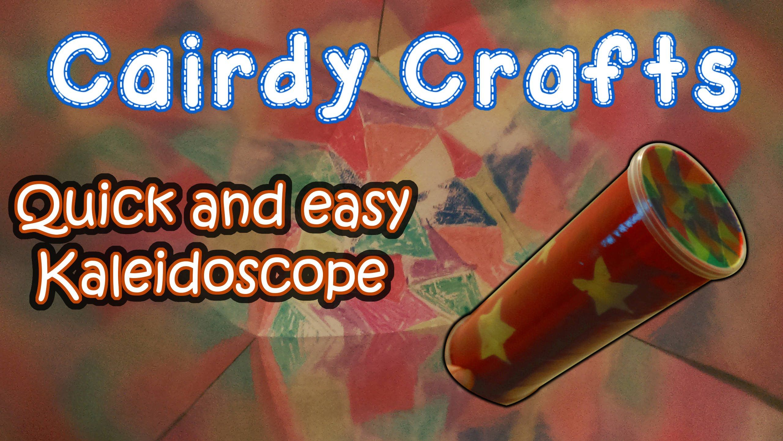 How To Make An Easy Kaleidoscope With A Pringles Type Can Looks