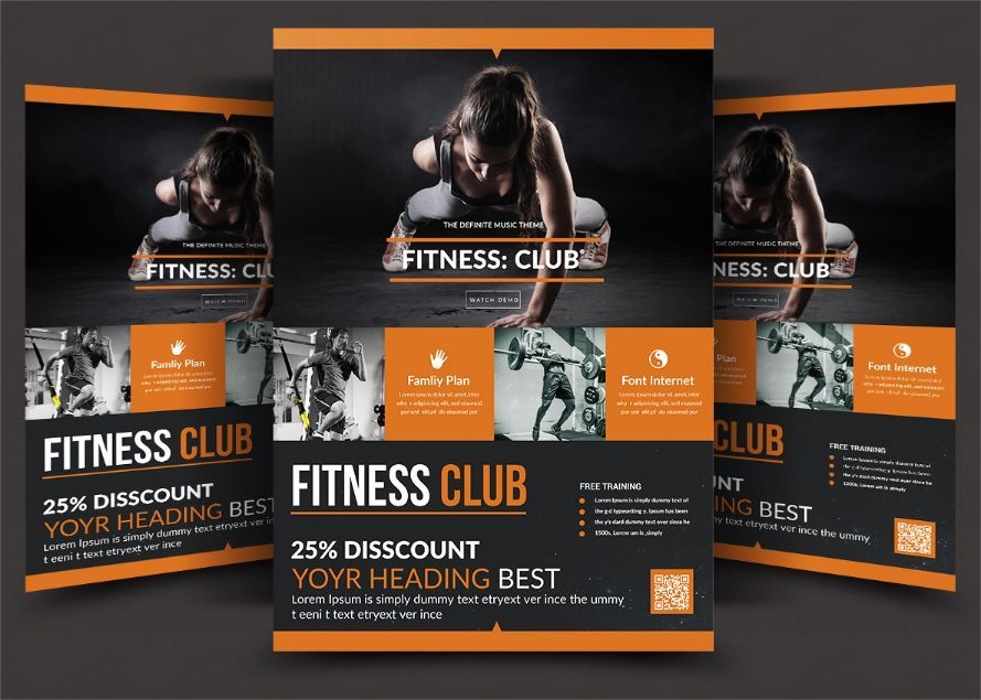 20 Fitness Flyer Template Psd For Center Gym And Health Products