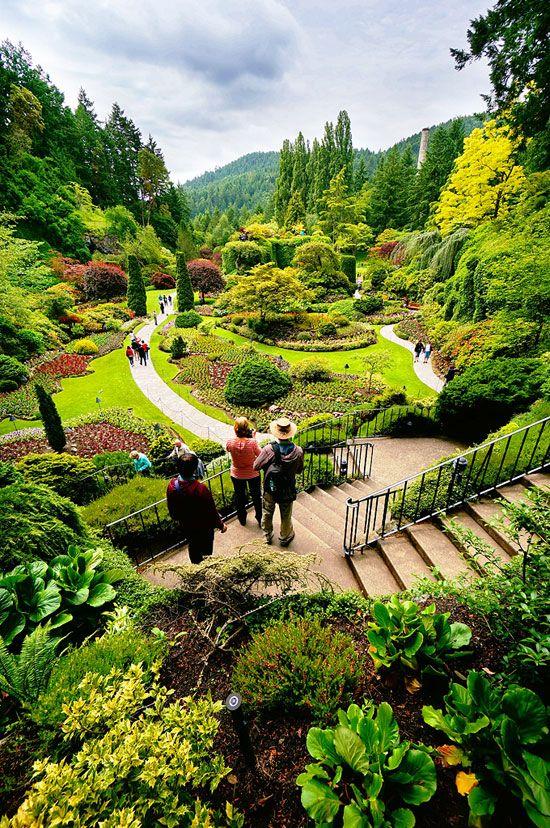 The Sunken Garden in Butchart Gardens in Victoria, British Columbia (via Where.ca).