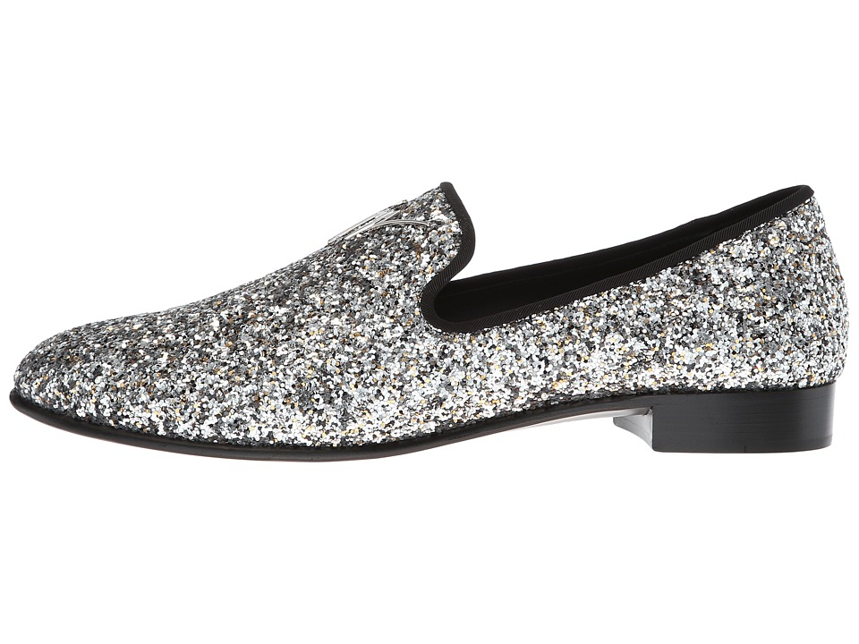 mens black sparkly loafers