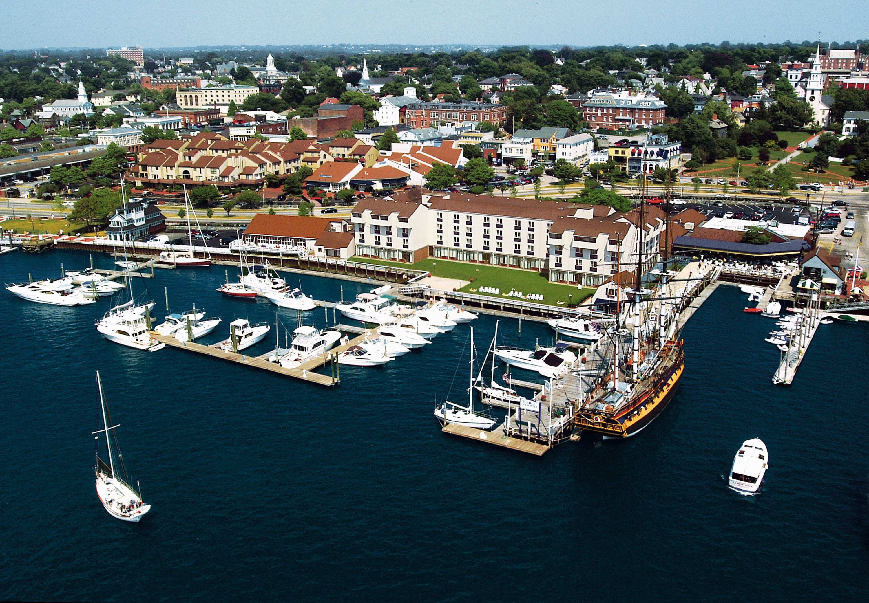 the newport harbor hotel and marina aerial view welcome. Black Bedroom Furniture Sets. Home Design Ideas