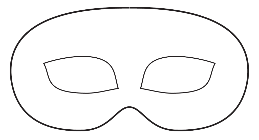 Making Leather Masks Template Mask Template Mask Template Printable Masquerade Mask Template