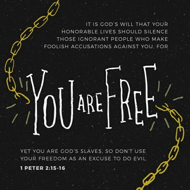 1 Peter 2: 15-16