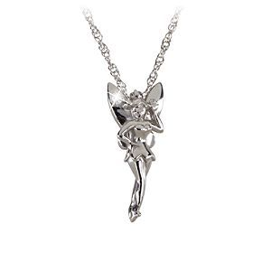 Sterling silver and diamond tinker bell necklace from the disney sterling silver and diamond tinker bell necklace from the disney dream collection aloadofball Images