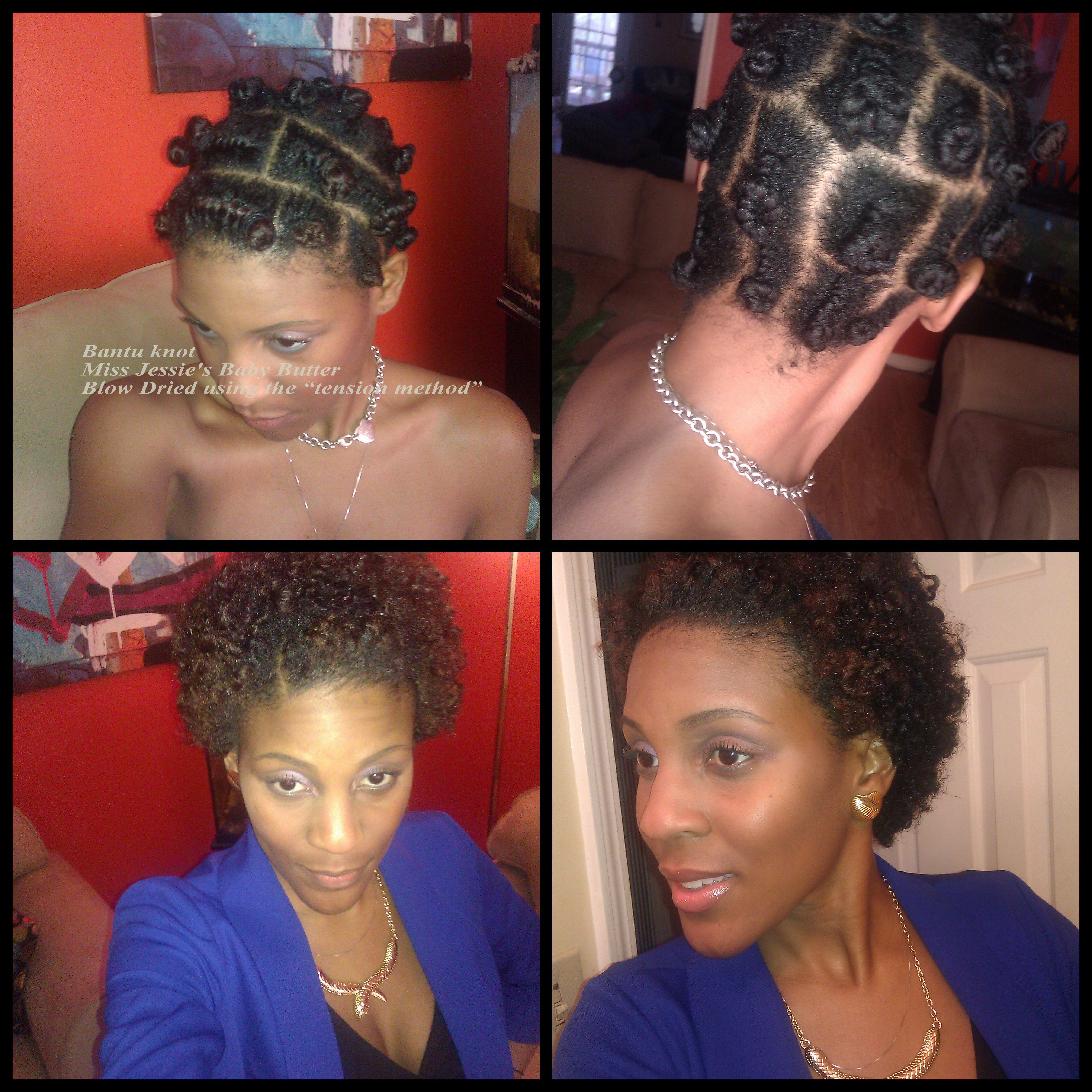 Short Natural Hair After Bantu Knot