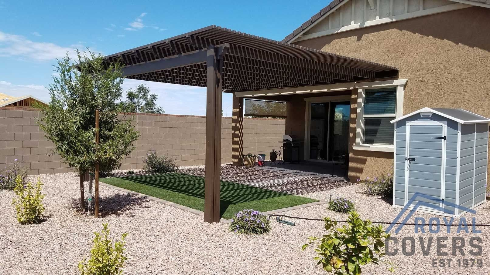 Our Products Royal Covers Arizona S Patio Cover Enclosure Installer In 2020 Backyard Pergola Patio Backyard Patio