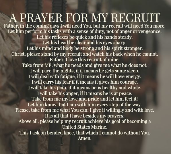A Prayer For My Recruit Usmc Bootcamp My Son My Hero My Marine