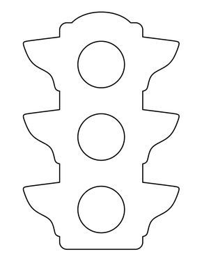 Traffic Light Pattern Use The Printable Outline For Crafts Creating Stencils Scrapbooking And More Fre Traffic Light Printables Free Kids Light Activities