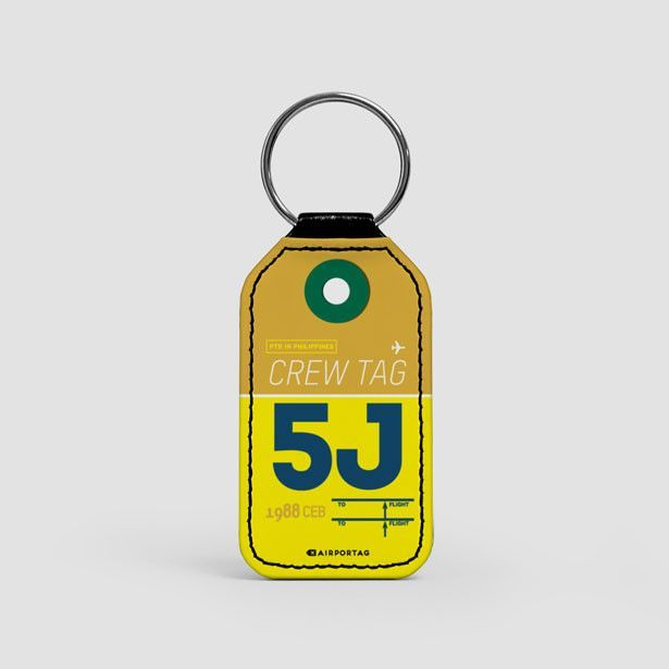 5J - Leather Keychain