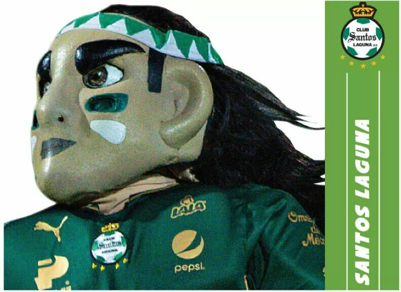 Mascota de fútbol (FEMEX) del club Santos Laguna Santos