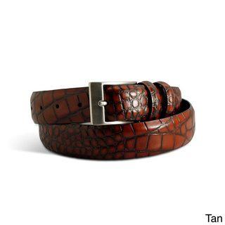 Marco LTD Men's Croc Leather Dress Belt