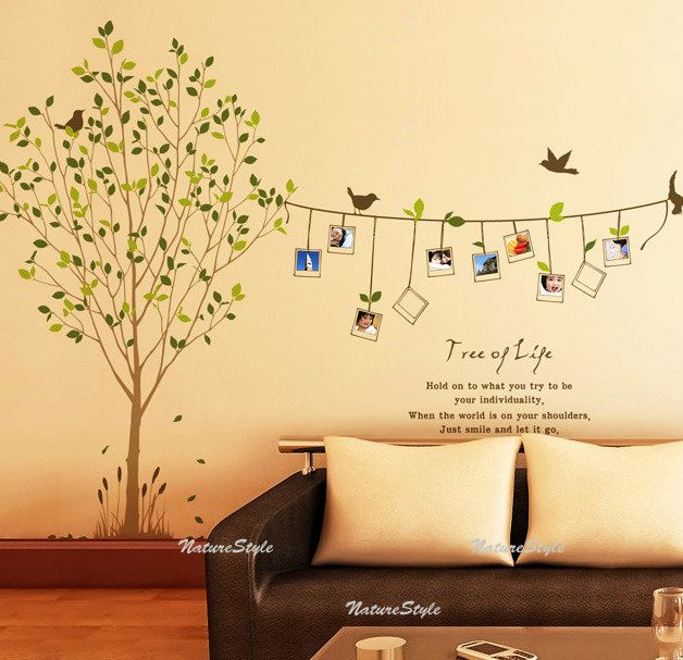 Beautiful Photograph On The Tree Vinyl Wall Decal Sticker Nature
