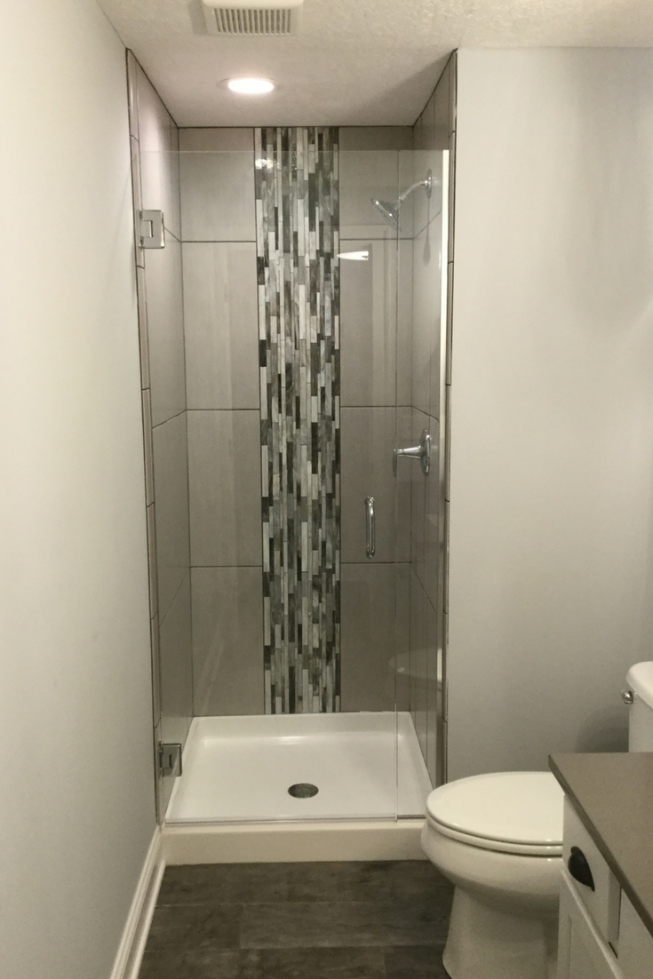 How To Overcome Your Boring Builders Grade White Shower Stall